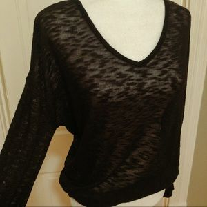 Old Navy sheer black oversized sweater, small